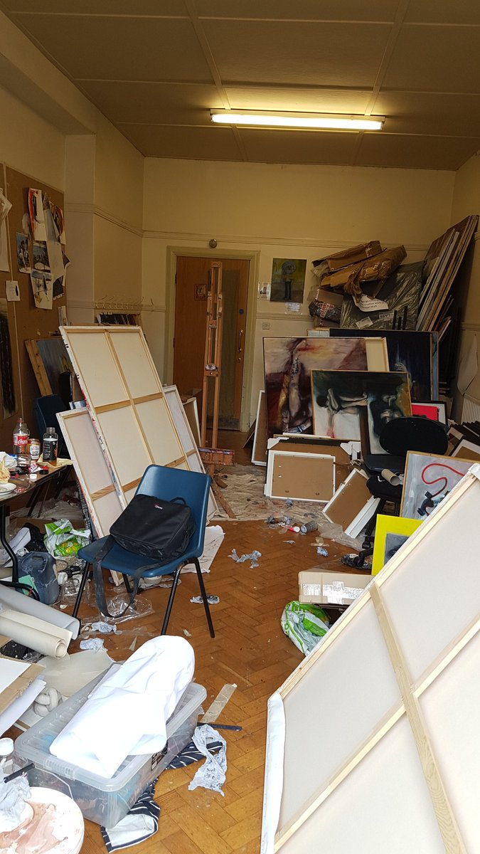Just About Finished Setting Up The Degree Show And Moving My Stuff Back Into Old Studio E Think I Need To Do Some Tidying Before Art Making
