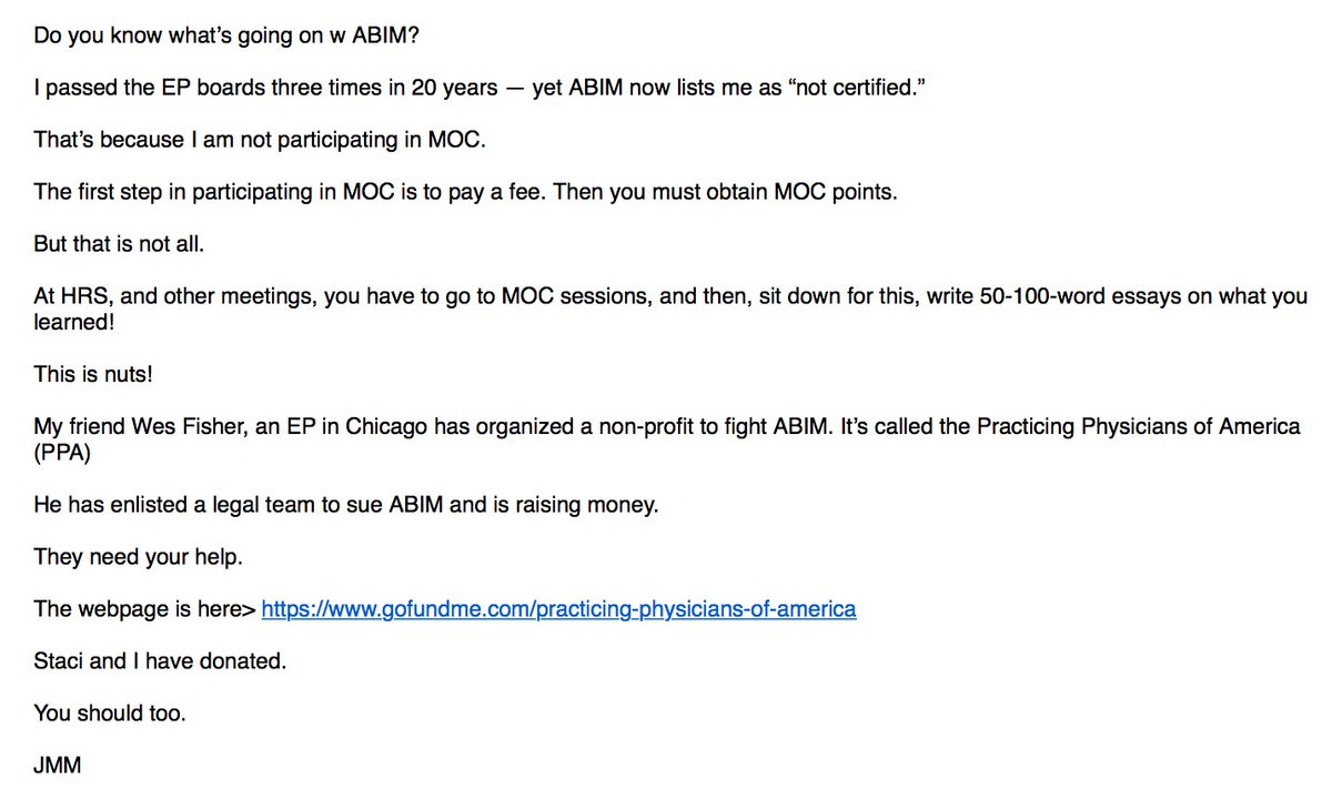 John Mandrola Md On Twitter Docs You Have Been Warned About Abim