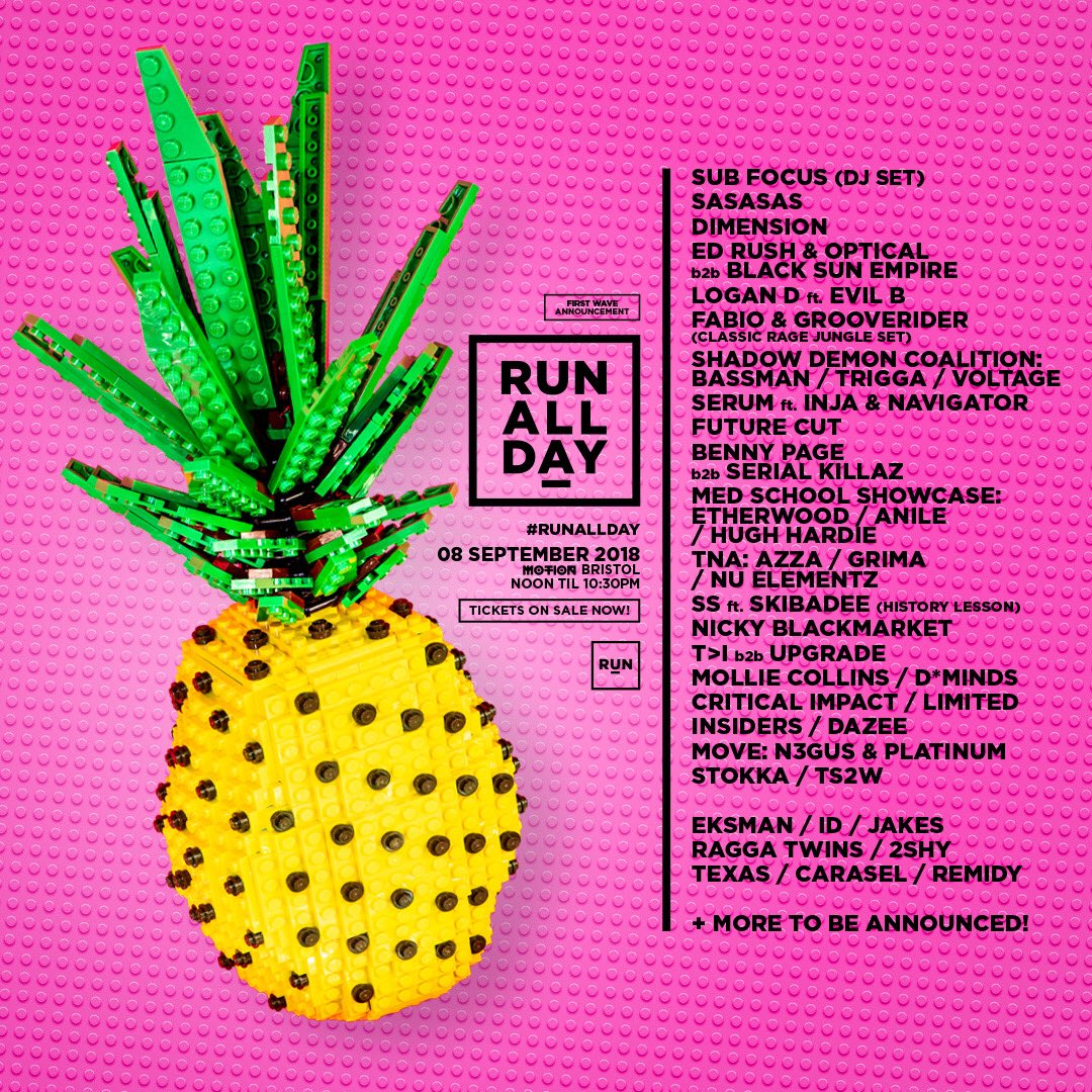 the first wave announcement for RUN ALL DAY is here! 🍍 Tickets are on sale now at: bit.ly/2LE6rGa ☀️