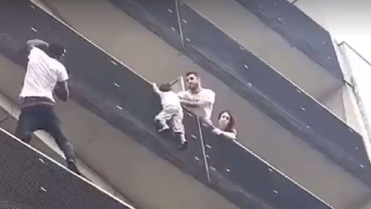 Mamoudou Gassama  - 22 year old immigrant  - Arrived from Mali a few months ago  - Saved boy hanging from fourth-floor balcony by scaling the building  - Invited by President Macron and made a French citizen