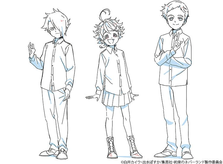 The Promised Neverland On Twitter Ray Emma Norman Clean