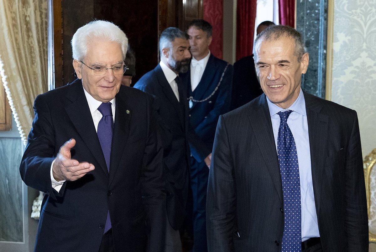 #Quirinale: il Presidente #Mattarella riceve il Prof. Carlo #Cottarelli  #consultazioni