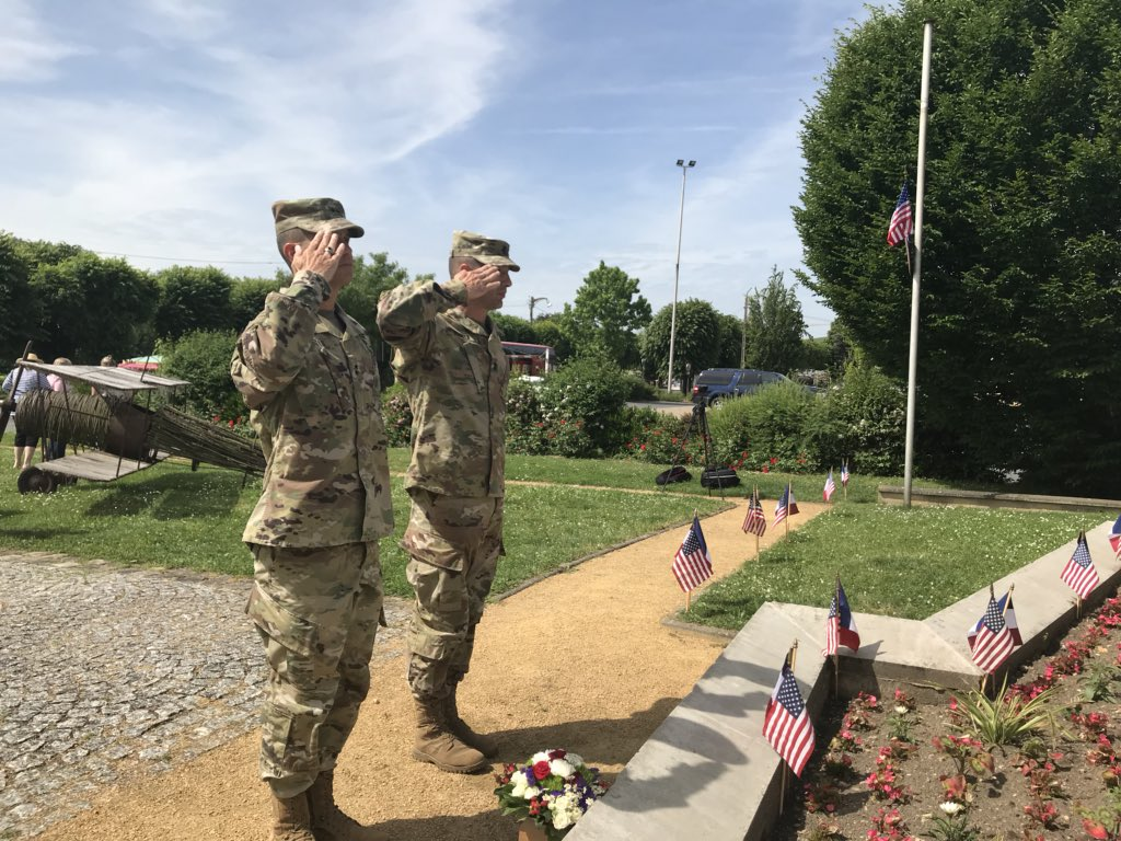 #MemorialDay2018  Ending our time in France with a day of remembrance. We laid a wreath at the Chateau-Thierry 3rd Infantry Division Monument #WeRemember #WeHonor #WeKeeptheLegacyAlive #ROTM #WWI100 <br>http://pic.twitter.com/02MDL974IC