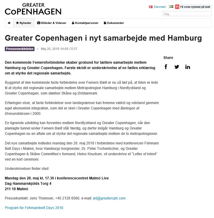 Greater Copenhagen On Twitter Metropolitan Regions Hamburg De