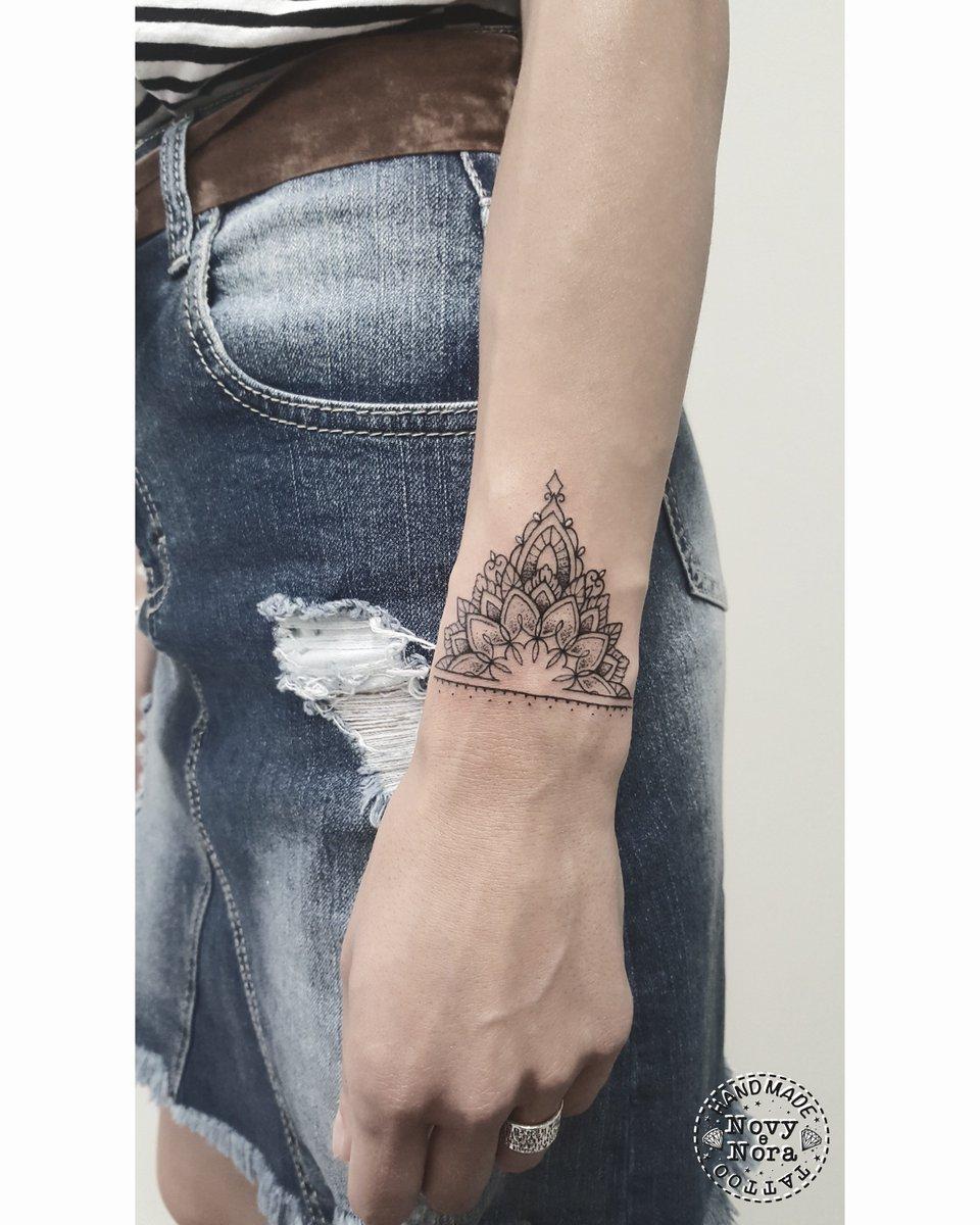 Novytattoo Handmade On Twitter Mandala Art Tattoo Bracelet