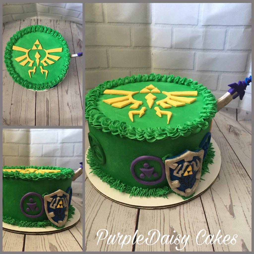 Sensational Alicia On Twitter Zelda Themed Cake Chocolate Cake With Funny Birthday Cards Online Elaedamsfinfo