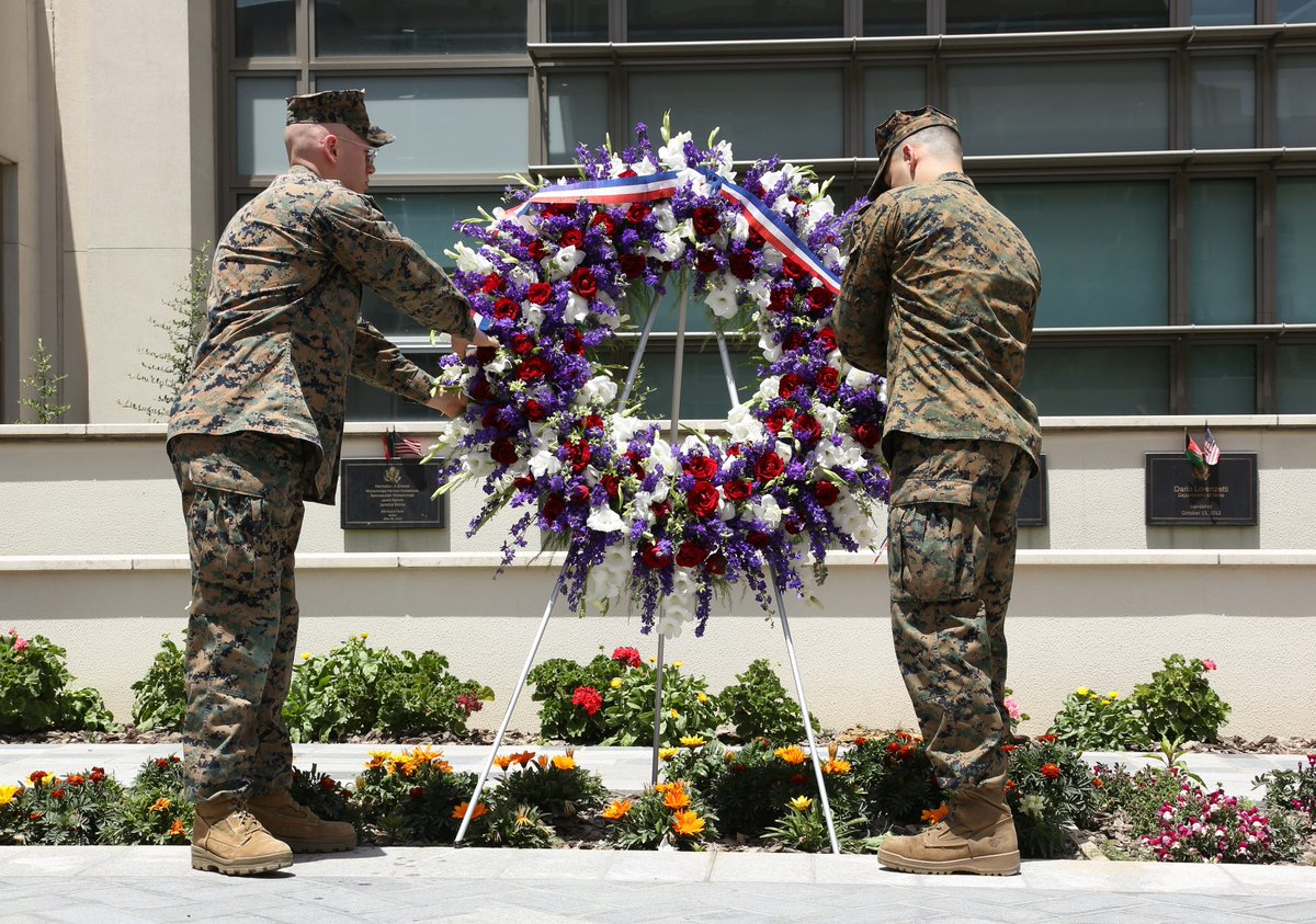 On this #MemorialDay, we honor and remember those who gave their lives in the service of our nation, in #Afghanistan and elsewhere. The sacrifices of those who fought to protect our freedoms must never be forgotten. We remember. @USFOR_A @ResoluteSupport