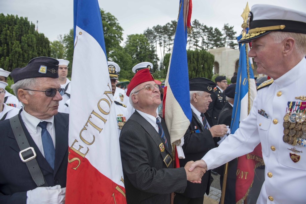 ADM Foggo at #MeuseArgonne Cemetery in France: @NATO will be ready to respond, deter &amp; defend any aggressive action, which could endanger peace &amp; prosperity for which the men buried here fought &amp; gave their lives to build #WeAreNATO #MemorialDay #WWI100  <br>http://pic.twitter.com/MtMGVrvS2N