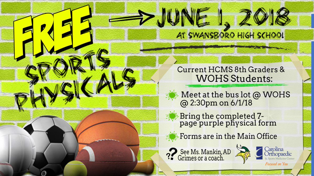 White Oak High On Twitter Free Sports Physicals By