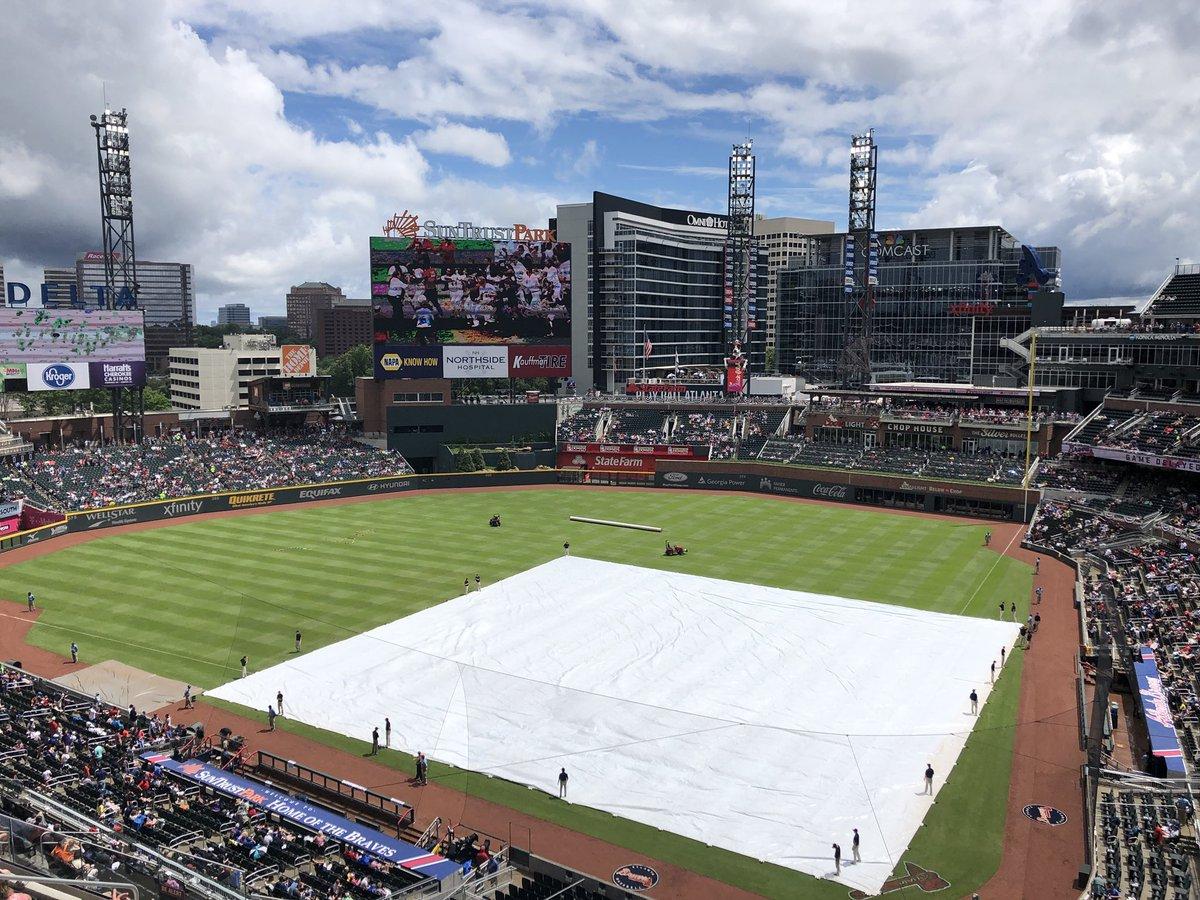 """Rain"" delay in Atlanta. https://t.co/WdnorjhS8C"