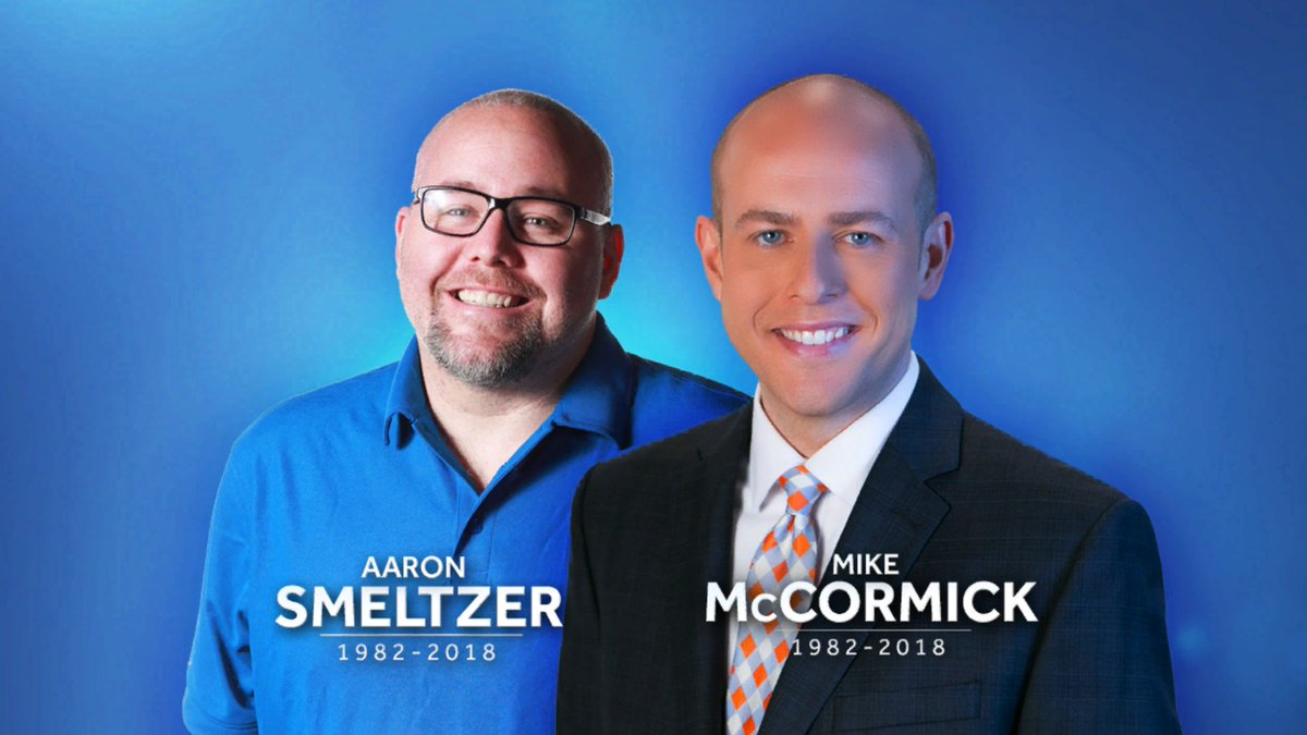 WYFF News 4 anchor Mike McCormick and WYFF News 4 photojournalist Aaron Smeltzer died Monday when a tree fell on their SUV. https://t.co/VZZKA6K6qq  All of us at WYFF News 4 are grieving. We are a family.