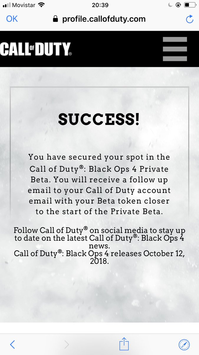 black ops 4 beta code email