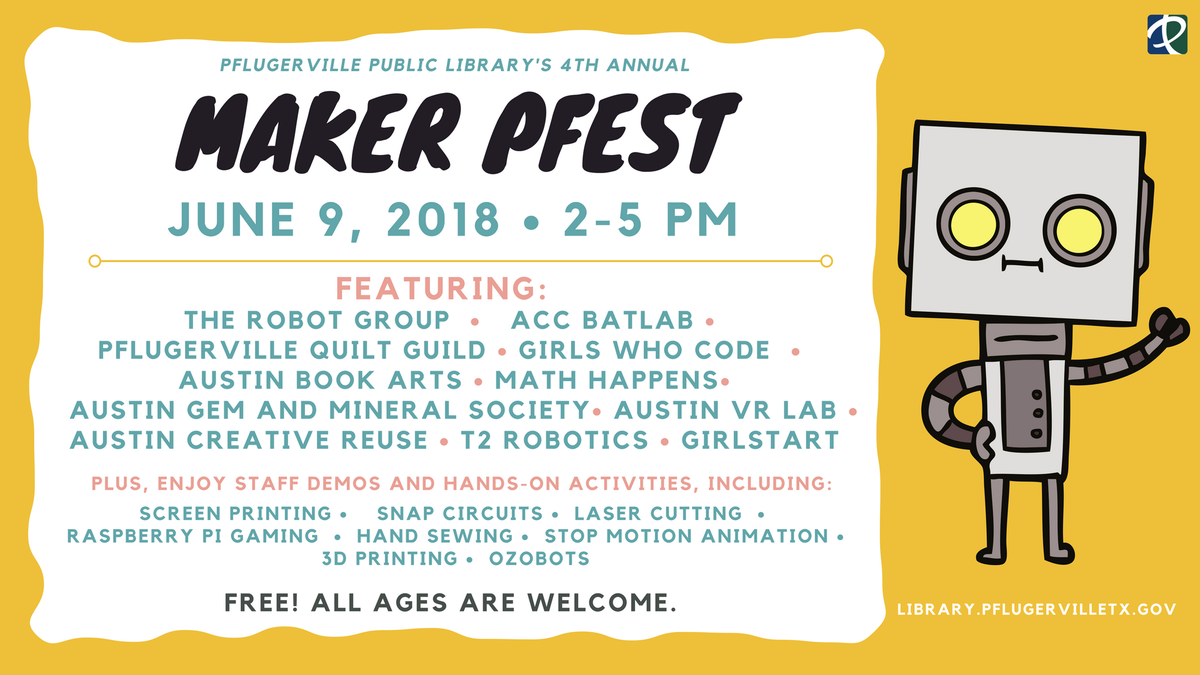 Pflugerville Library On Twitter Save The Date Maker Pfest Is Series Circuit 3d Animated Model Parallel Saturday June 9 Https Tco Wdzyppud8m