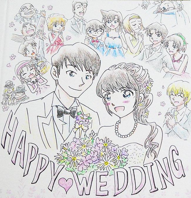 かれんまま On Twitter 友人への結婚祝いイラスト完成しました