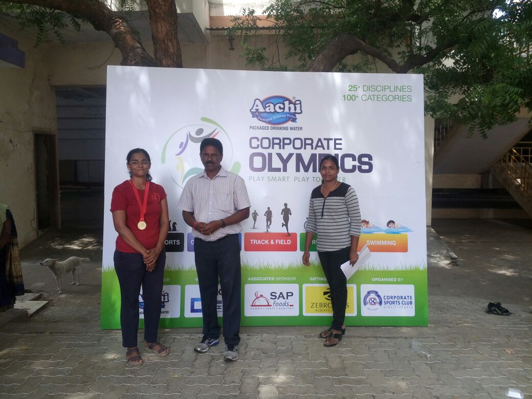 test Twitter Media - Focus is proud of its employee - Kamini Prabhakar for winning 3 Gold medal in swimming competition organized by Corporate Sports Club, Chennai. https://t.co/JN1arT1C35