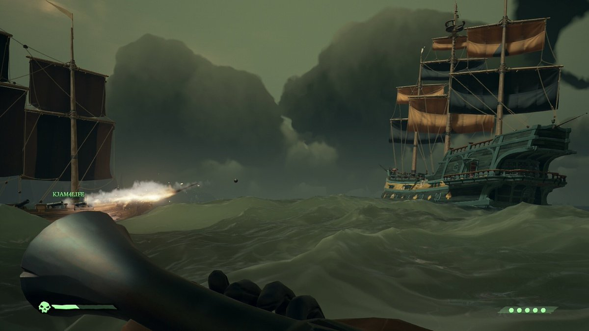 Started playing Sea of Thieves again - it's lots of fun! If anyone plays hit me up and let's plunder some treasure! 😁 #seaofthieves #rare #galleon #navalcombat #seawarfare #treasure #cannon