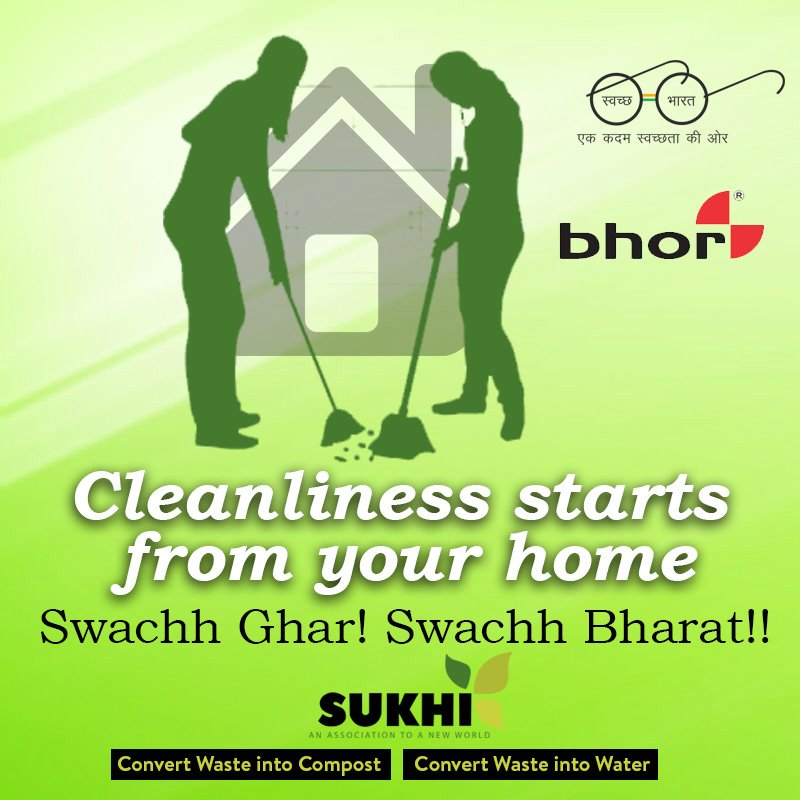 """""""Cleanliness Starts From Your Home""""  http://sukhiservices.com/domestic-automatic-composting-mac……/  #swachhsurvekshan2018 #swachhbharatabhiyaan #swachhbharatmission #beswachh #foodwaste #organicwaste #composting #wastetocompost #sukhiservices #bhor #kitchenwaste #homewaste pic.twitter.com/7Fm2p6WqmS"""