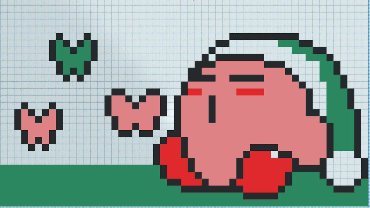"""Orbulon on Twitter: """"Some Kirby pixel art made with Puzzle ..."""