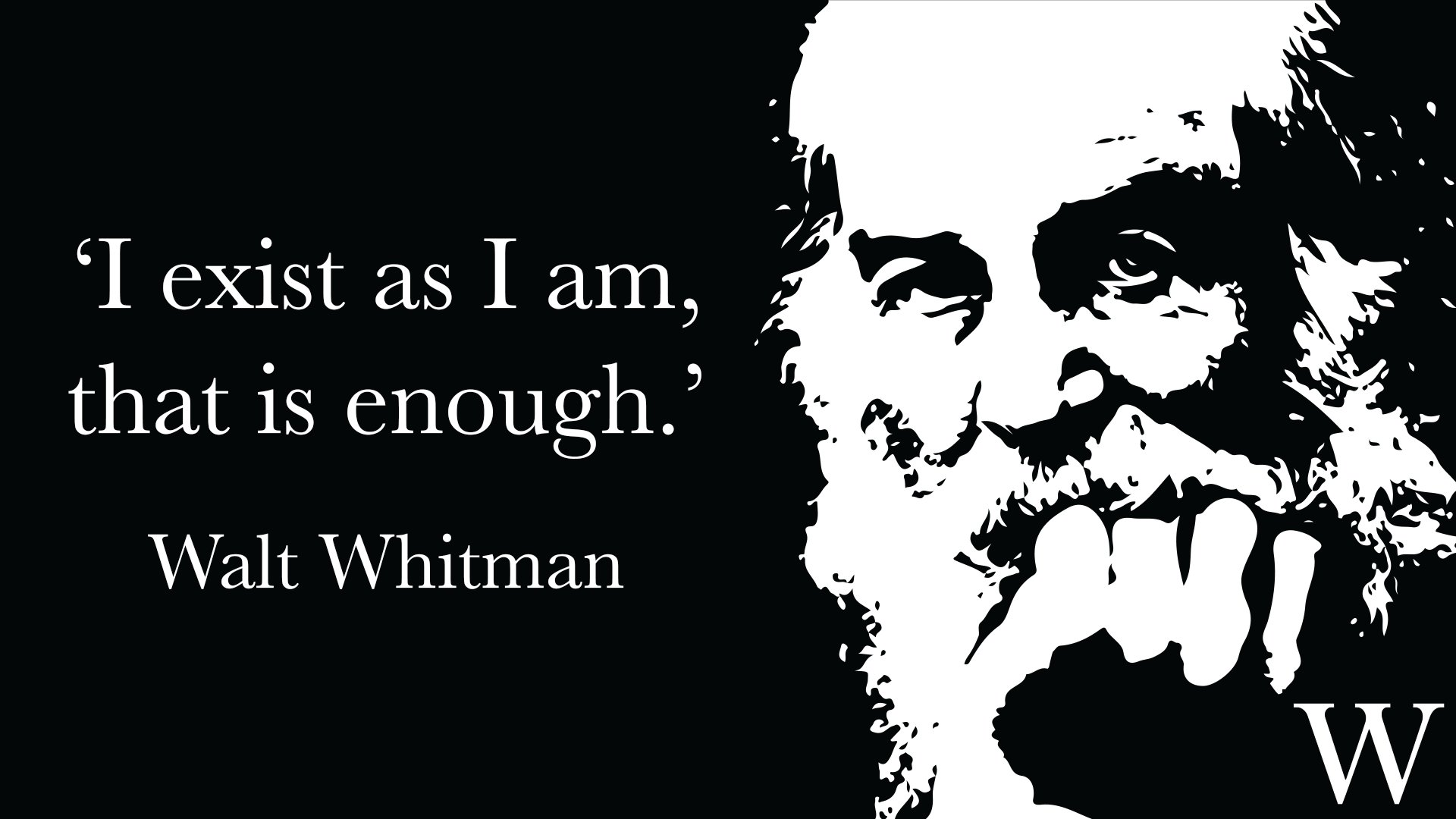 Reloaded twaddle – RT @Waterstones: 'I exist as I am, that is enough.' - Walt Whitman, born #OnThis...