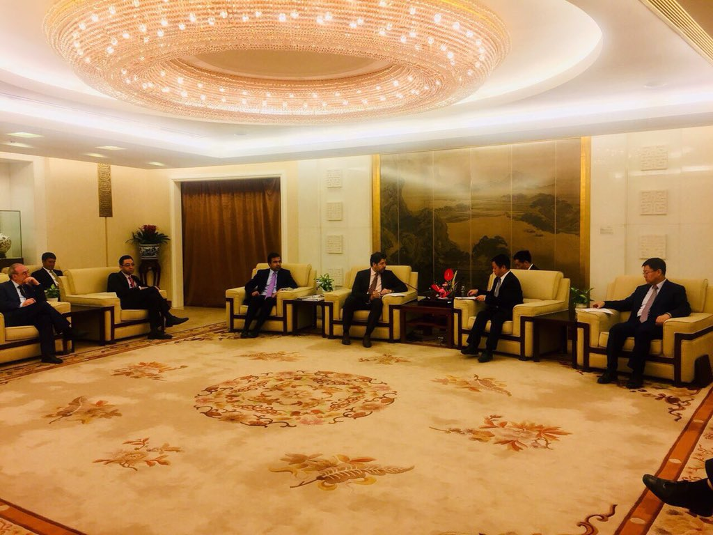Extensive and fruitful conversations covering all areas of bilateral cooperation with my Chinese colleagues Vice Foreign Minister Mr. Kong Xuanyou and Assistant Foreign Minister Mr. Zhang Hanhui in Beijing.