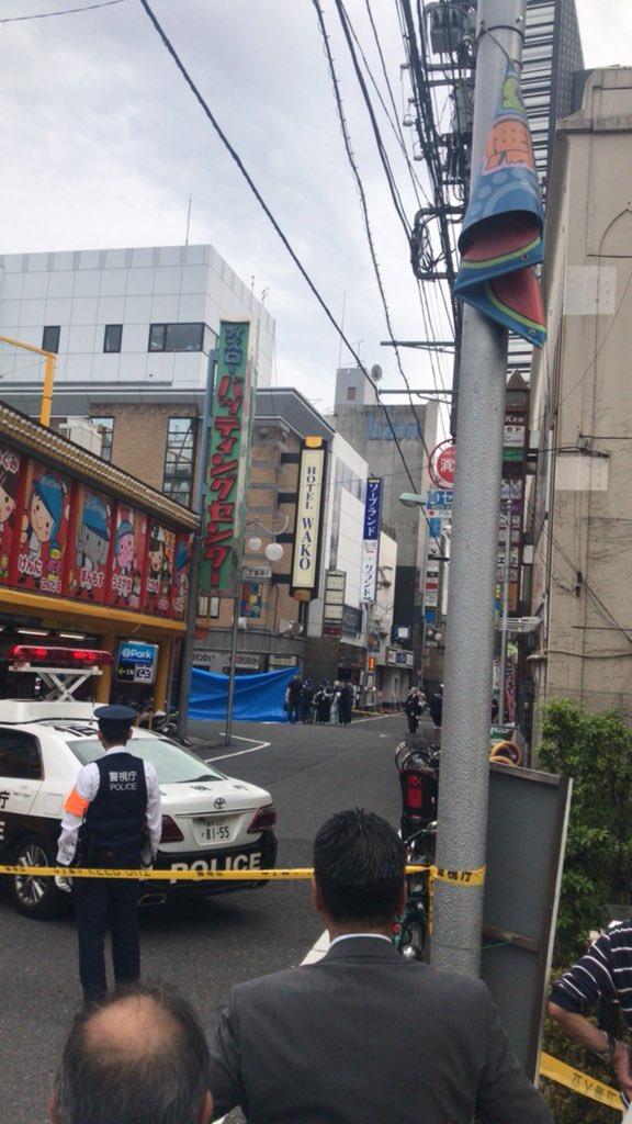 歌舞伎町で赤ちゃん死体遺棄事件の現場の画像
