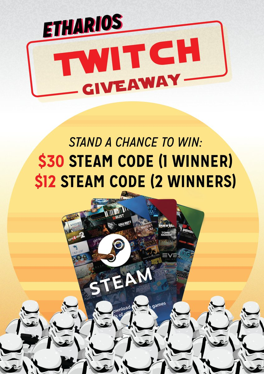 Etharios On Twitter As We Celebrate Our Twitch Partner Milestone Steam Wallet 12 Will Be Having A Giveaway For Viewers Check The Reply Comment Section More Information