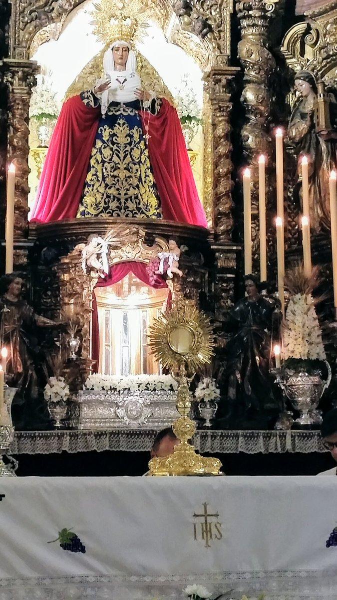 Resultado de imagen de triduo sacramental de la hermandad de la o de sevilla