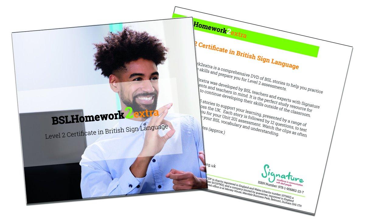 signature homework bsl