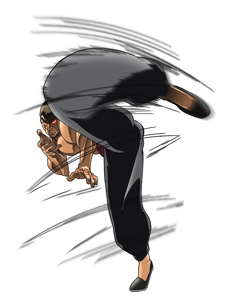 Updated Baki Animejp Character Gouki Shibukawa