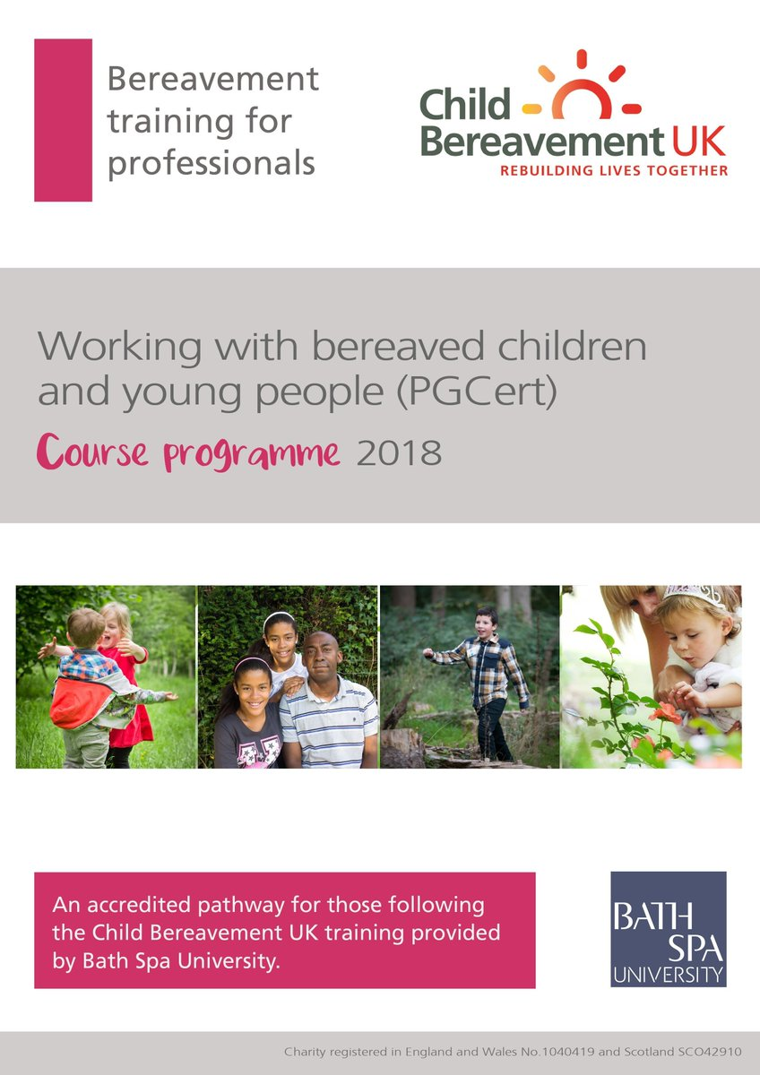 ... work with bereaved children and young people? Our post-graduate  certificate course, accredited by Bath Spa University is now taking entries  for ...