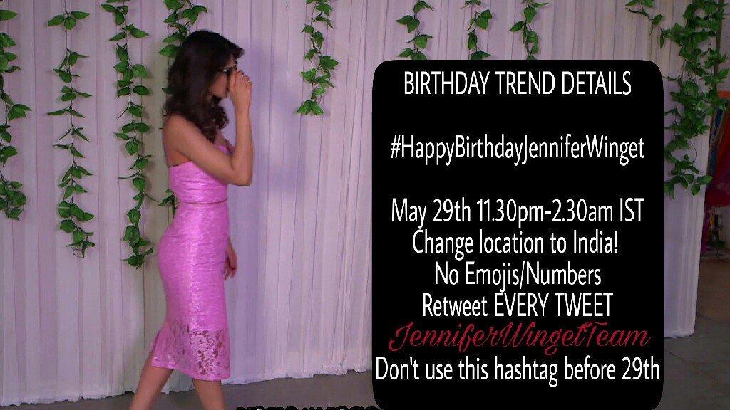 """JenniferWingetTeam on Twitter: """"TREND ALERT For Jennifer ..."""