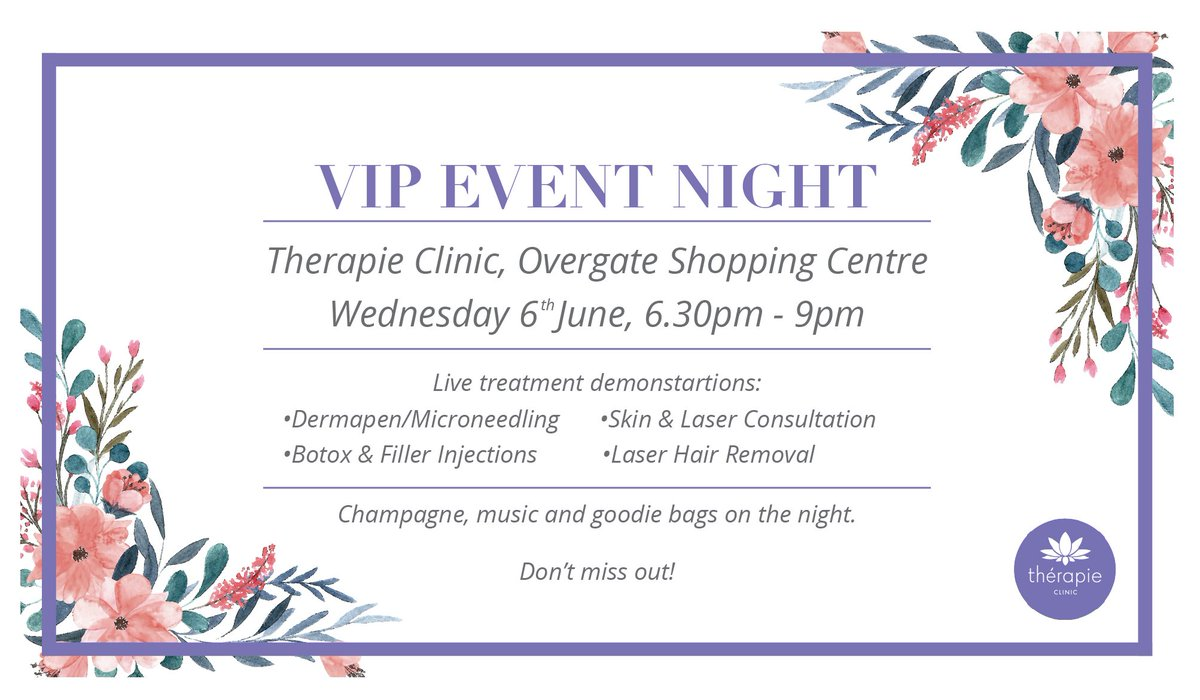 Overgate On Twitter Get The Vip Treatment Therapieclinics On 6th