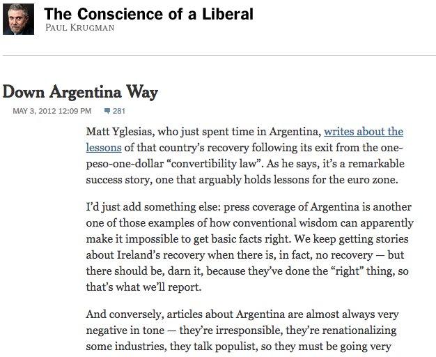 Robert P Murphy On Twitter Remember Krugmans Supreme Virtue Is
