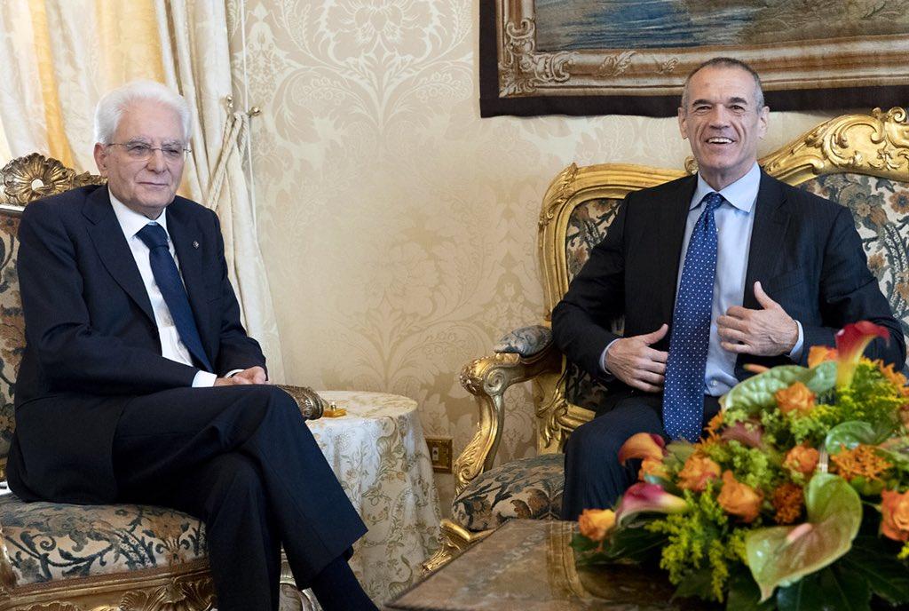 #Quirinale: il Presidente #Mattarella riceve il Presidente Incaricato Carlo #Cottarelli  #consultazioni