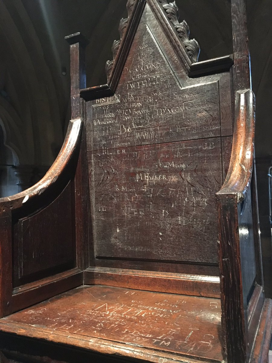 Katie Barnfield on Twitter  This is Mary IIu0027s coronation chair - complete with the names of Westminster schoolboys scratched into it. & Katie Barnfield on Twitter: