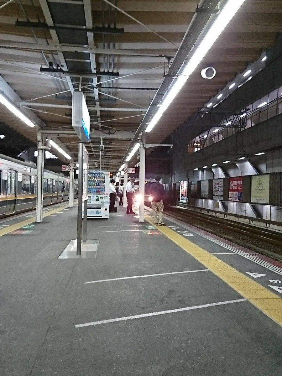 芦屋駅で人身事故の現場画像