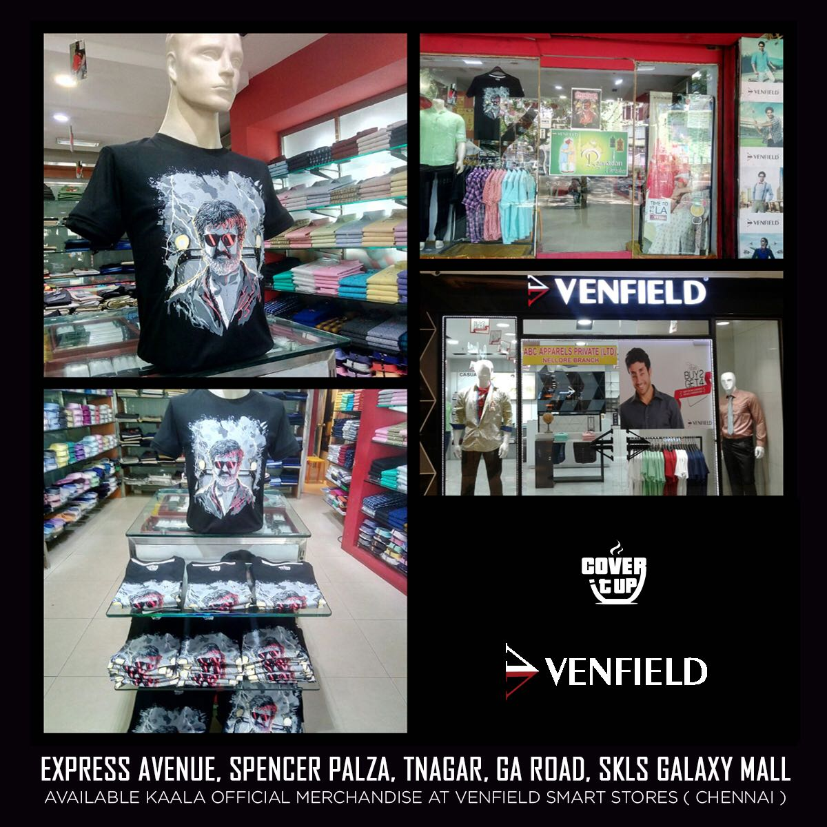 Official Merchandise Of Kaala Now Available In All Outlets Venfield Chennai Locate Stores Here