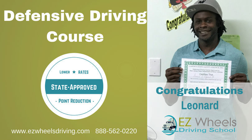 Defensive Driving Course Congratulations Leonard.  #defensivedriving #class #course #stateapproved #nj #lower #autoinsurance #reducepoinst #driverslicense #drivingschool https://t.co/KRMKYl6yz7 https://t.co/LdbaxLSvSy