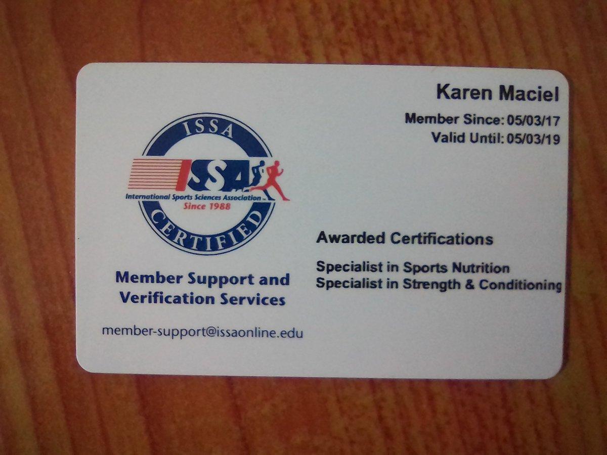 Karen Savia Maciel On Twitter Issa Certified Strength And