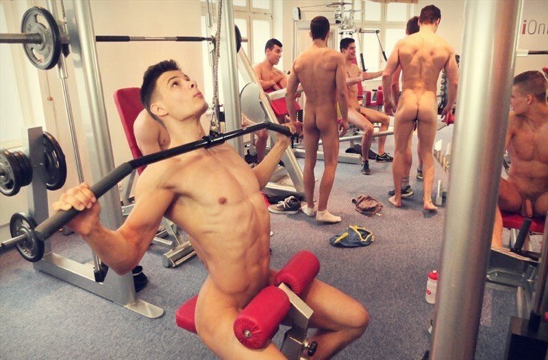Nude Male Gym Showers