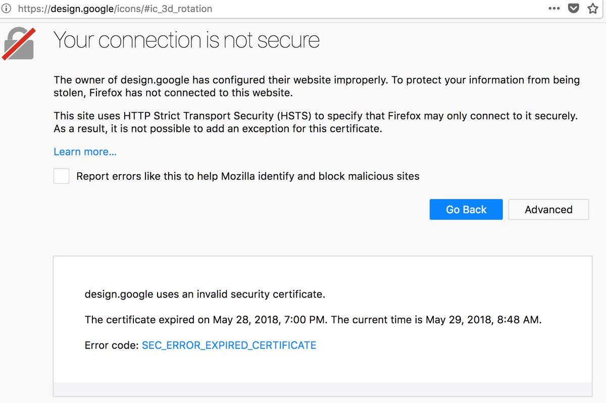 Google Certificate Invalid
