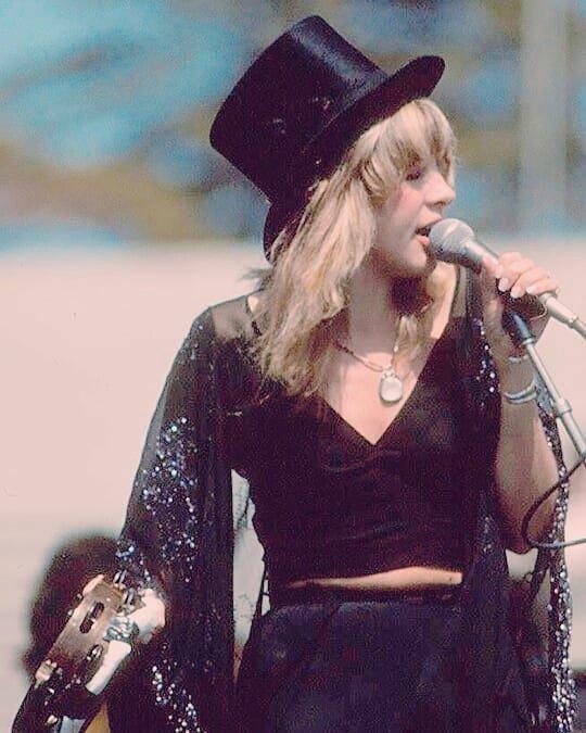 Stevie Nicks Chain On Twitter Top Hat Tambourine