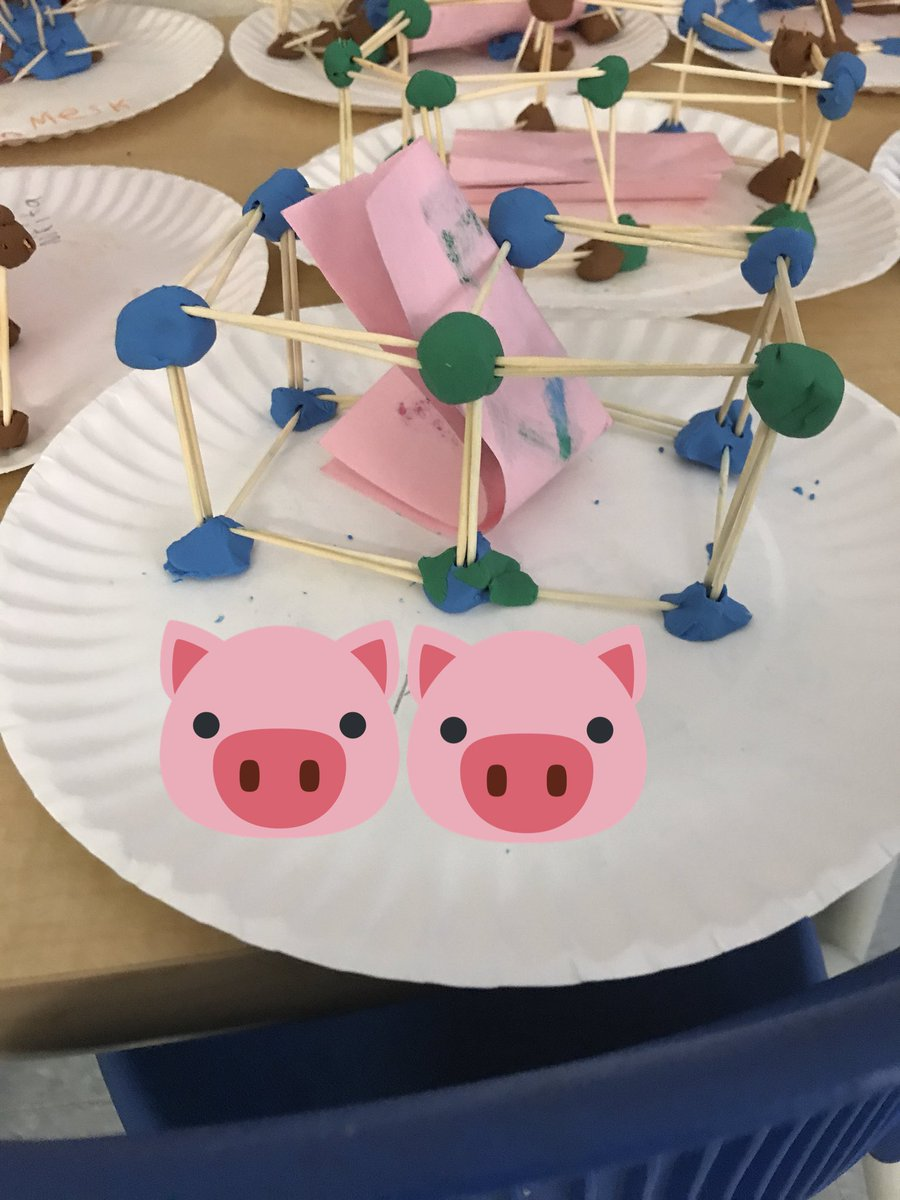 Samantha Lamarche On Twitter Our Stem Challenge Today Is To Build A House For One Of The 3 Little Pigs
