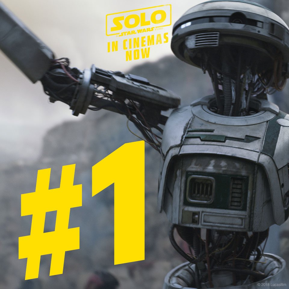 Thank you Star Wars fans, for making SOLO: A #StarWars Story the number one film in the UK! #HanSolo