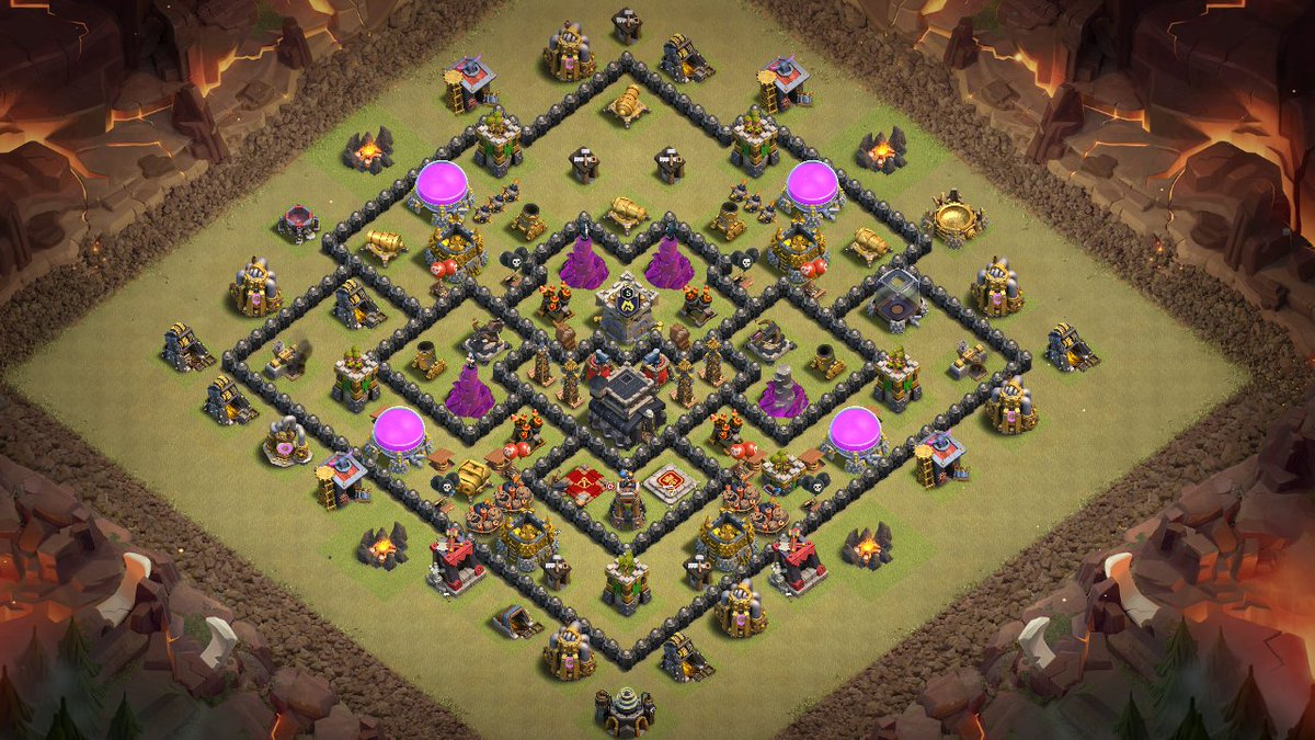 NEW 'Best' Town Hall 9 (TH9) War Base 2018