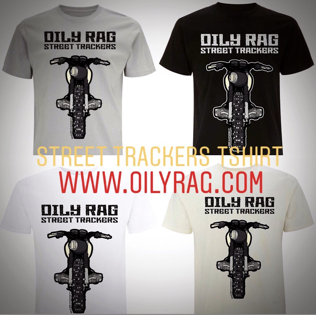 Oily Rag Clothing Casual Motorcycle Flat Tracker T-Shirt Grey