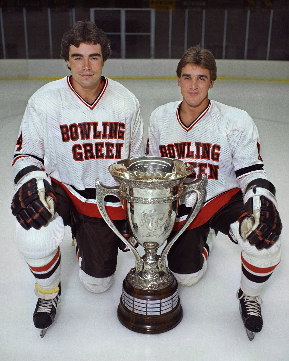Oh, this is awkward 😆 The current @Capitals and @VegasHockeyNHL general managers were roommates when they played for@BGathletics ! 🏒#StanleyCup #NHLPlayoffs https://t.co/FJMWHNVtjI