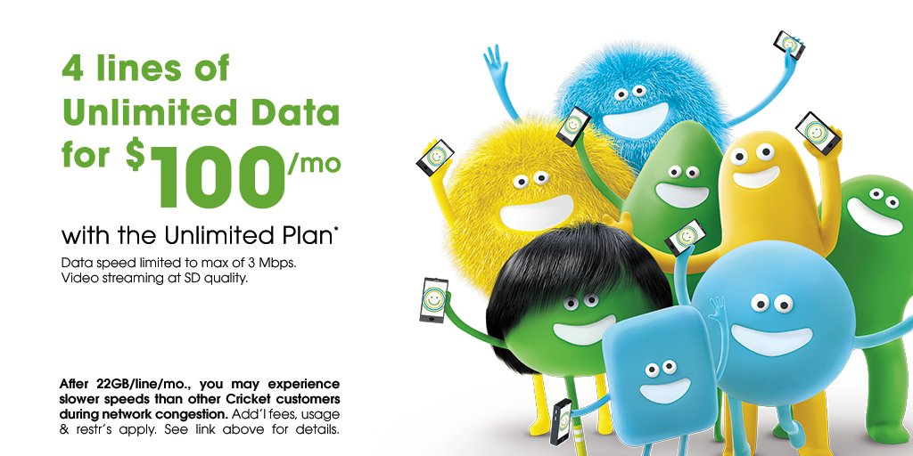 Cricket Wireless On Twitter Get Unlimited Coverage For The