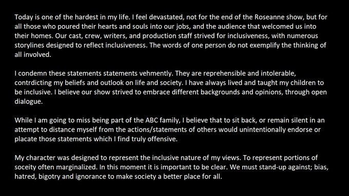 End of the show statement