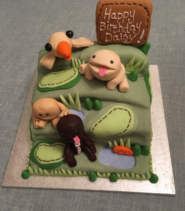 Prime Hayley Banks On Twitter So I Made A Littlebigplanet Cake Birthday Cards Printable Riciscafe Filternl